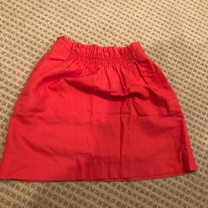 Jcrew casual shirt skirt with pockets